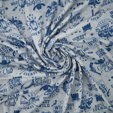Ткань на отрез кулирка R2367-V1 Ковбойский клуб