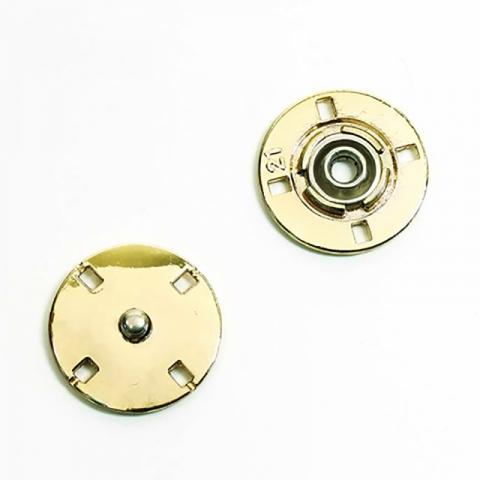 Кнопка металлическая золото КМД-3 №15 уп 10 шт