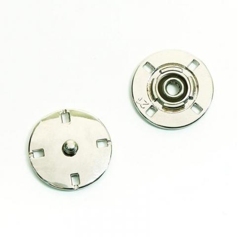 Кнопка металлическая никель КМД-3 №18 уп 10 шт