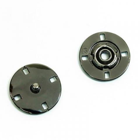 Кнопка металлическая черный никель КМД-3 №18 уп 10 шт