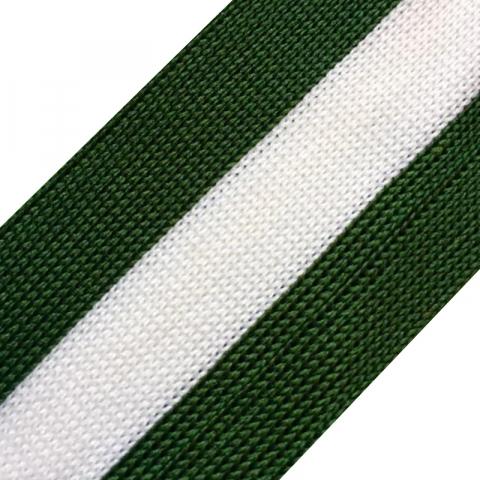 Лампасы №22 зеленый белый зеленый 4см уп 10 м