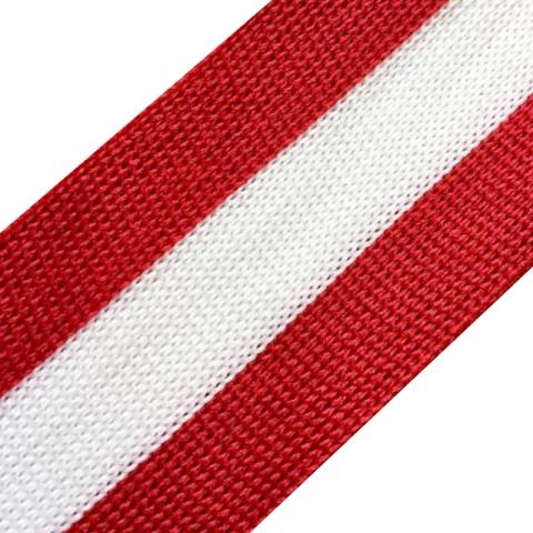 Лампасы №24 красный белый красный 3,5см уп 10 м