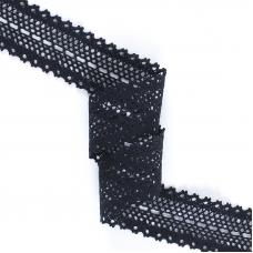 Кружево лен 1324А Черный 3,5см 1метр