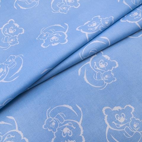 Маломеры поплин 150 см 393/3 цвет голубой 0.9 м