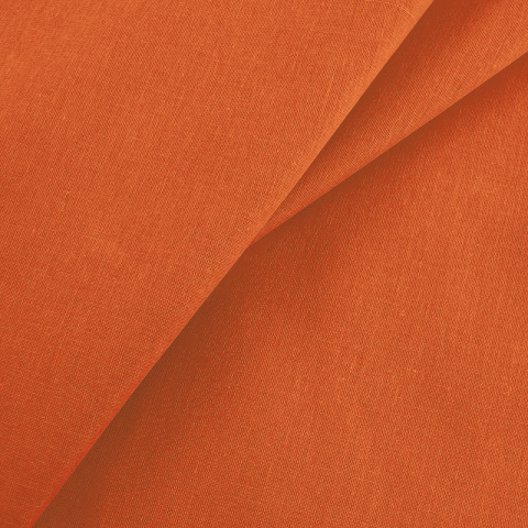 Маломеры бязь гладкокрашеная 120гр/м2 150 см цвет оранжевый 1.55 м