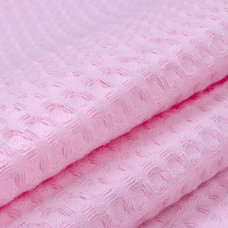 Вафельное полотно гладкокрашенное 150 см 240 гр/м2 7х7 мм премиум цвет 071 розовый