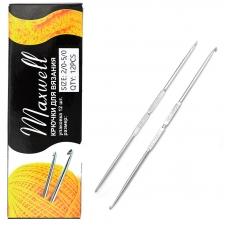 Крючок для вязания ТВ-СН-01 Maxwell Black №2/0-7/0 двусторонний. 2,1 мм- 3,2 мм