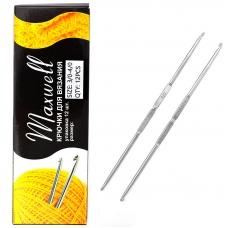 Крючок для вязания ТВ-СН-01 Maxwell Black №3/0-4/0 двусторонний. 2,3 мм- 2,5 мм