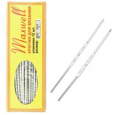 Крючок для вязания ТВ-СН-01 Maxwell Black №4/0-7/0 двусторонний. 2,5 мм- 3,2 мм