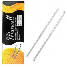 Крючок для вязания ТВ-СН-01 Maxwell Black №7/0-8/0 двусторонний. 3,2 мм- 3,5 мм