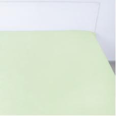 Простынь на резинке поплин цвет салатовый 180/200/20 см