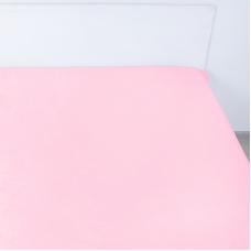 Простынь на резинке поплин цвет розовый 180/200/20 см