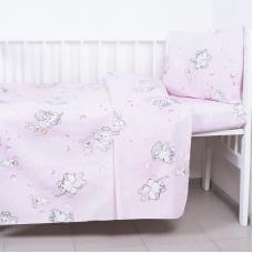 Постельное белье в детскую кроватку 1285/2 Мамонтенок розовый ГОСТ