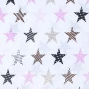 Маломеры бязь плательная 150 см 8104/1 Звезды пэчворк цвет розовый 11 м