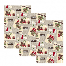 Набор вафельных полотенец 3 шт 35/70 см 366-5 Шоколадный