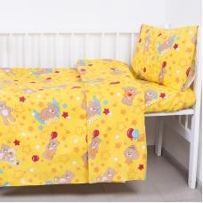Пододеяльник детский из бязи ГОСТ 350/5 Мишки цвет желтый, 110х145 см