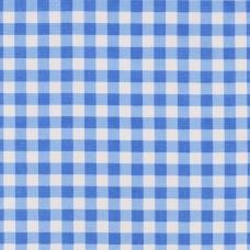 Ткань на отрез полулен 150 см 10432/2 цвет голубой