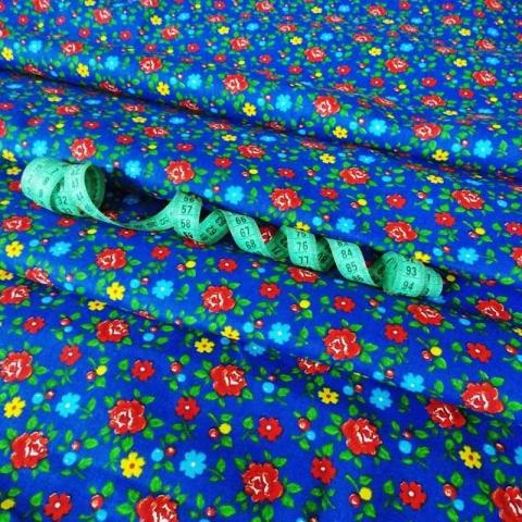 Маломеры бязь плательная 150 см 8107/5 цвет синий 1 м