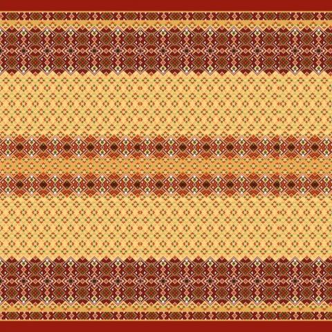 Ткань на отрез вафельное полотно набивное 150 см 440/1 Народный цвет красный