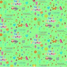 Фланель 90 см набивная арт 514 гр Тейково рис 5580 вид 5 Лучшие друзья