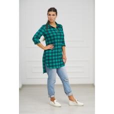 Рубашка 0732-24 цвет Зеленый р 42
