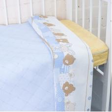 Пододеяльник бязь 120 гр/м2 детский 8078 Спящие мишки голубой 145/110 см
