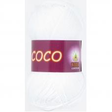 Coco 3851 100% мерсеризованный хлопок 50гр 240м (Индия) цвет белый