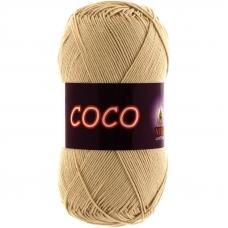 Coco 3889 100% мерсеризованный хлопок 50гр 240м (Индия) цвет св.бежевый