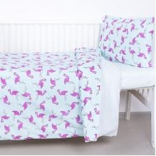 Постельное белье в детскую кроватку из поплина 434/2+388А/16
