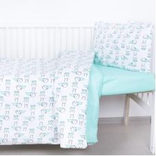 Постельное белье в детскую кроватку из поплина 1956/1+388/16
