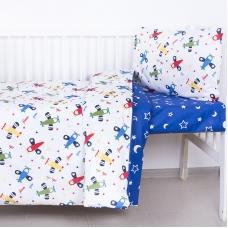 Постельное белье в детскую кроватку из поплина 2014+394/21