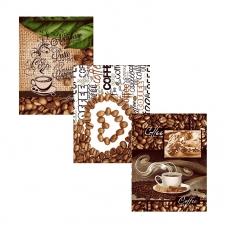 Набор вафельных полотенец 3 шт 50/60 см 10362/1 Кофе