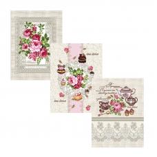 Набор вафельных полотенец 3 шт 50/60 см 10921/1 Чаепитие