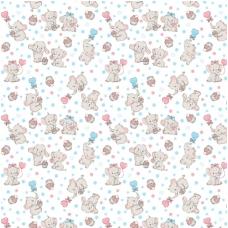 Ткань на отрез фланель 90 см 5568/1 Слоники
