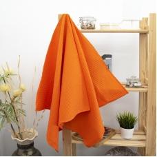 Полотенце вафельное банное Премиум 150/75 см цвет 164 оранжевый