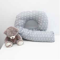 Наволочка бязь на подушку для беременных U-образная 1700/17 цвет серый