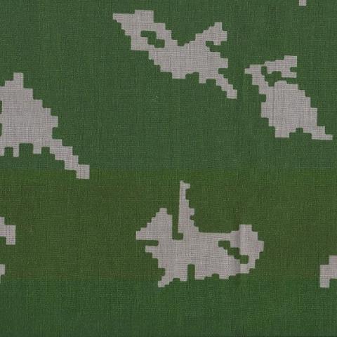 Маломеры бязь плательная 150 см 1359/7 цвет зеленый фон белый мелкий горох 10 м Копия