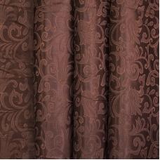 Портьерная ткань 150 см на отрез 100/2С цвет 9 коричневый