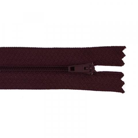 Молния пласт юбочная №3 16 см цвет 179 бордовый