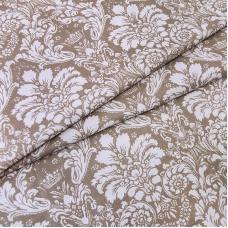 Ткань на отрез поплин 220 см 115 г/м2 391/18 Дамаск цвет кофе