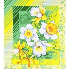 Вафельное полотно 50 см 170 гр/м2 20021/1 Утренние цветы