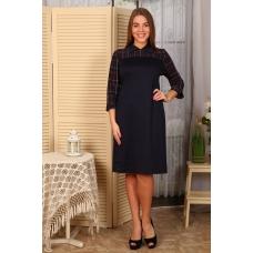 Платье Луиза клетка+тем.синее Д478 р 54