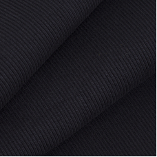 Ткань на отрез кашкорсе 3-х нитка с лайкрой цвет черный