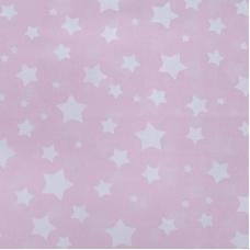Мерный лоскут перкаль 150 см 13165/1 Звезда цвет розовый 9,6 м