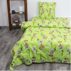 Детское постельное белье из бязи 1.5 сп 2997/2 цвет зеленый