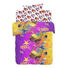 Детское постельное белье из хлопка 1.5 сп Trolls (70*70) рис. 8890+8891 вид 1 Тролли
