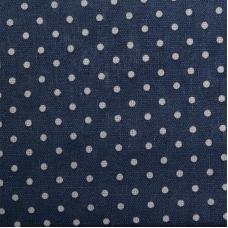 Ткань на отрез лен TBY-DJ-12 Горох цвет синий