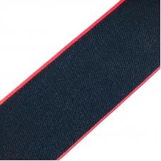 Резинка декоративная №16 черный кант красный 4см уп 10 м