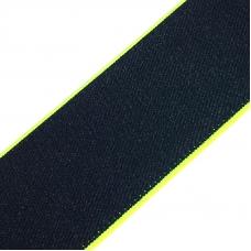 Резинка декоративная №15 черный кант неон 4см уп 10 м