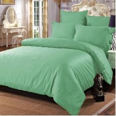 Постельное белье из сатина 15-6316 Зелень 2-х сп с евро простыней